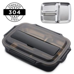Japanese Style Stainless Steel Insulated Bento Lunch Box & Food Container For Adults & Kids | 40 oz New