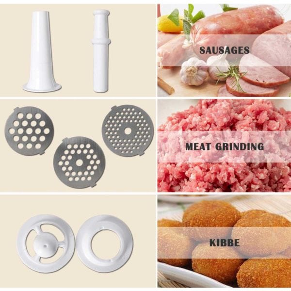 Electric Meat Grinder & Sausage Stuffer with Stainless Steel Blade | 2800W High Power