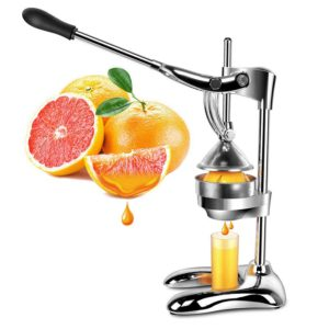 Extra Heavy Duty Stainless Steel Hand Press Manual Citrus & Fruit Squeezer – Commercial