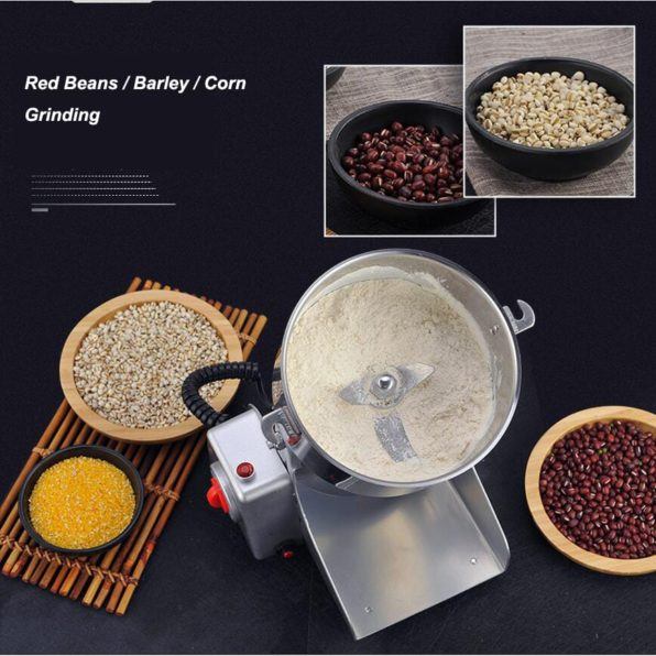 Grain Grinder Mill Stainless Steel Electric High Speed Powder Machine Cereals Flour Herb Spice Pepper Coffee Bean Pulverizer Commercial Heavy Duty Professional for Sale Buy Purchase Online Best Price Discount