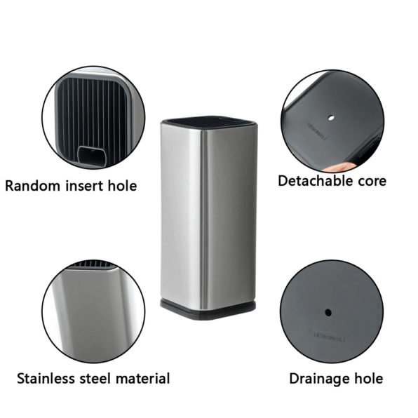 Universal Heavy Duty Professional Kitchen Knife Set Holder Box   Knives Storage Tool   Knife Organizer Bucket Case   Cutlery Knives Storage Utensils Organizer Set   Kitchen Knife Block   Chef Knife Drawers   Universal Knife Rack with Slots for Scissors and Sharpening Rod Knife Holder Knives Storage - Knife Protector