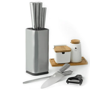 Universal Heavy Duty Professional Kitchen Knife Set Holder Box | Knives Storage Tool | Knife Organizer Bucket Case | Cutlery Knives Storage Utensils Organizer Set | Kitchen Knife Block | Chef Knife Drawers | Universal Knife Rack with Slots for Scissors and Sharpening Rod Knife Holder Knives Storage - Knife Protector