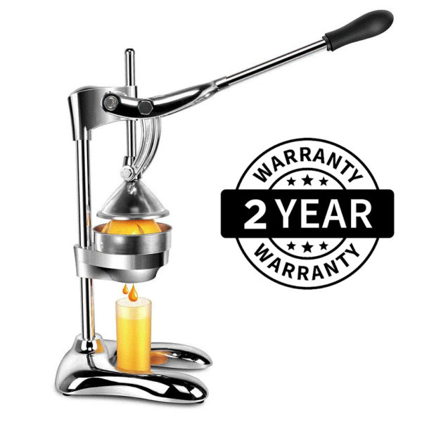 Extra Heavy Duty Stainless Steel Hand Press Manual Citrus & Fruit Squeezer - Commercial