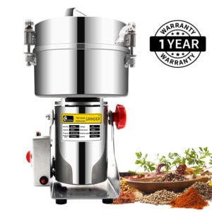 Grain Grinder Mill Stainless Steel Electric High-Speed Powder Machine | Grinder, Pulverizer | Commercial & Home (700G)