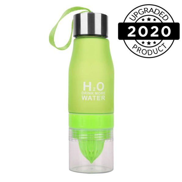 h2o fruit infuser water bottles black green2
