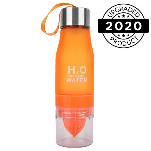 h2o fruit infuser water bottles black orange2