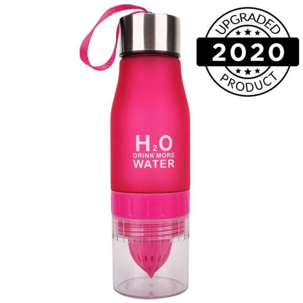 h2o fruit infuser water bottles black red2