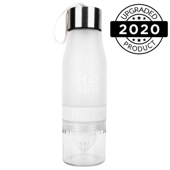 h2o fruit infuser water bottles black white2