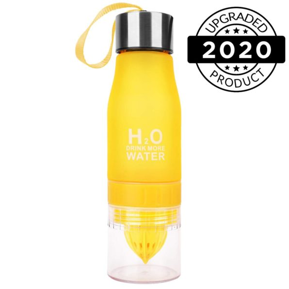 h2o fruit infuser water bottles black yellow2