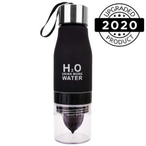 h2o fruit infuser water bottles black2