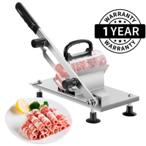 Heavy Duty Stainless Steel Manual Frozen Meat Slicer | Commercial and Home