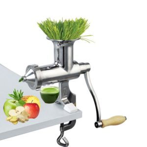 Heavy Duty Stainless Steel Manual Hand Crank Herb, Vegetable & Wheatgrass Juicer   Commercial & Home