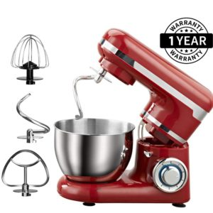 Heavy Duty Multi-Function 1200W 6-Speed Tilt-Head Electric Stand Mixer with 4L Stainless Steel Bowl
