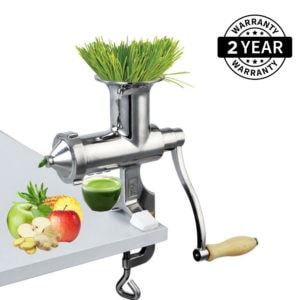 Heavy Duty Manual Wheatgrass Juicer | Pure 304 Stainless Steel