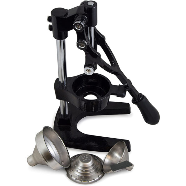 Buy the best heavy duty, commercial, hand held press, manual orange pomegranate citrus squeezer. Professional restaurant, industrial kitchen, bar, street shop. Hand operated traditional orange juicer for sale buy order online 304 stainless steel price reviews cast iron